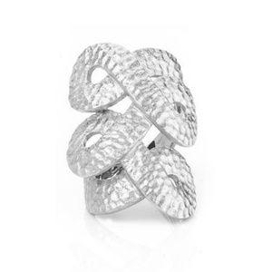 RIVKA FRIEDMAN White Rhodium Satin Knuckle Ring